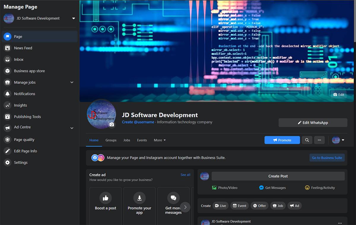 FB Site JD Software Development